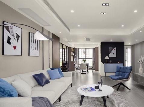 142方现代风格三居室装修效果图