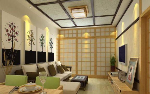 博盛园130平米韩式风格二居室效果图
