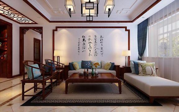 中式风格200平米大户型室内装修效果图