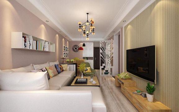 現代簡約風格100平米兩室兩廳新房裝修效果圖