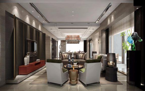 170平现代简约混搭北欧风3房2厅2卫新房大平层装修效果图