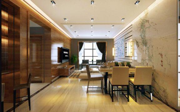 現代風格100平米三室兩廳新房裝修效果圖