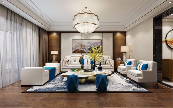 255平方米港式风格四居室装修效果图