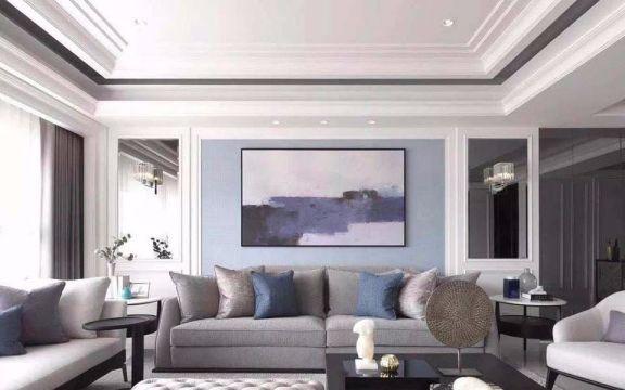 110平方新古典风格三居室装修效果图