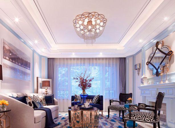 90平欧式风格两居室装修效果图