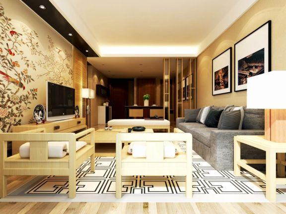 170平现代中式三居室装修效果图