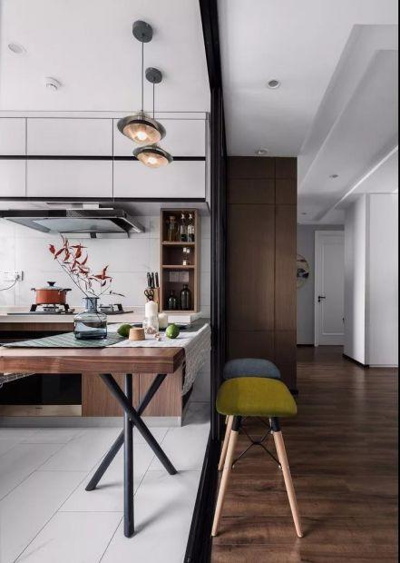 厨房咖啡色现代简约风格装修设计图片