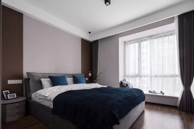 卧室灰色现代简约风格装饰设计图片