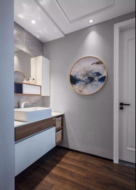卫生间白色现代简约风格效果图