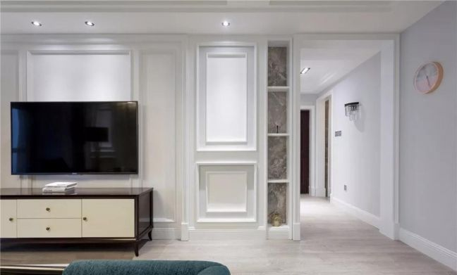 124平美式风格三居室装修效果图