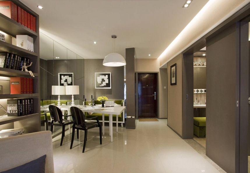 现代简约风格58平米公寓新房装修效果图