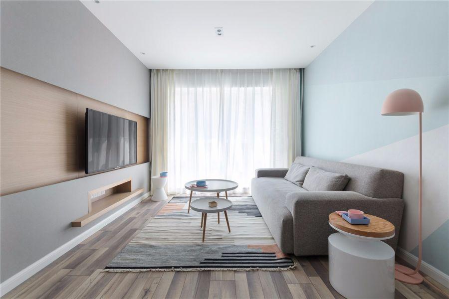 90平北欧风格二居室装修效果图