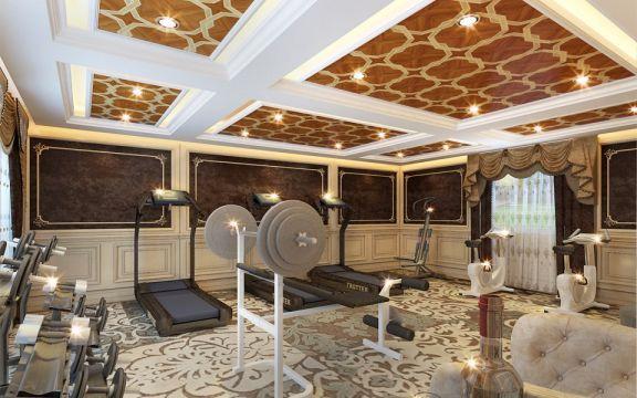 健身房吊顶欧式设计效果图