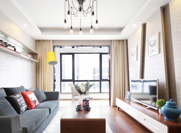 75平简约风格两居室装修效果图