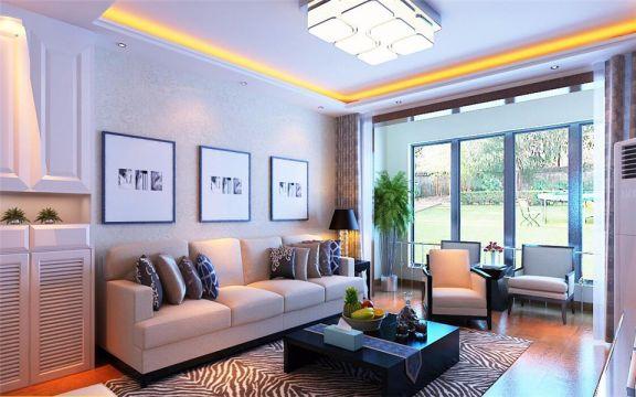 140平现代简约风格楼房装修效果图