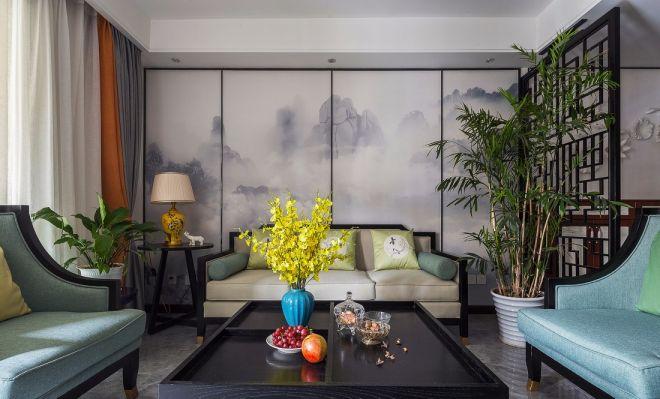 170平中式风格楼房装修效果图