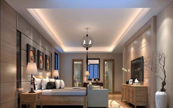2019现代简约240平米装修图片 2019现代简约三居室装修设计图片