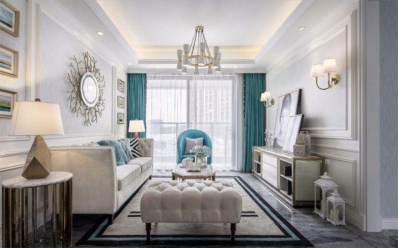 105平法式风格三居室装修效果图