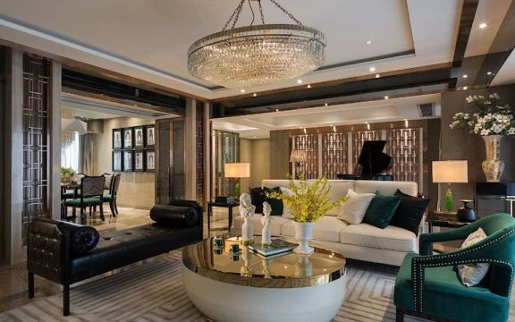 120平法式风格四居室装修效果图