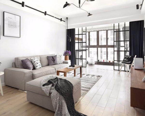110平简约风格两居室装修效果图