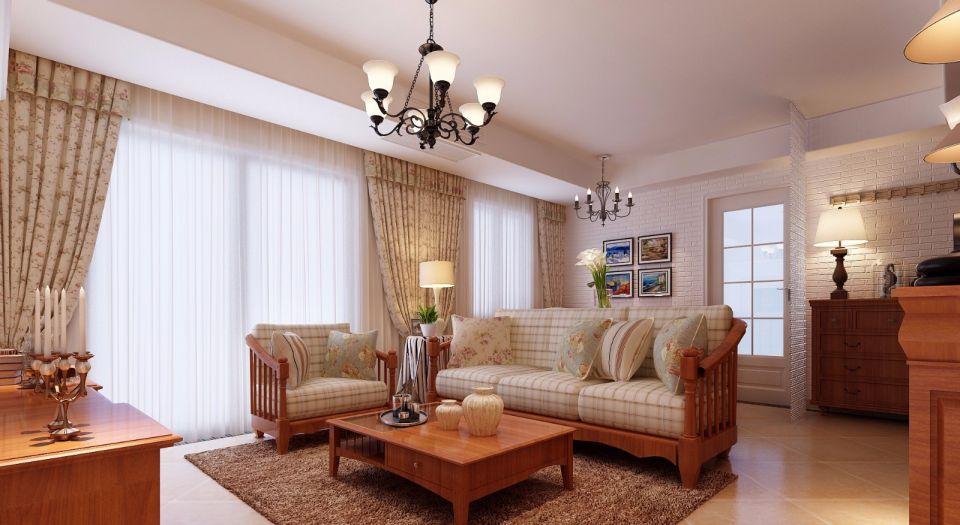 90平田园风格两室两厅装修效果图