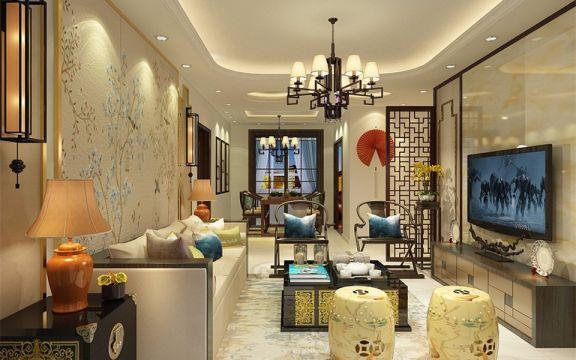 88平新中式风格两室两厅装修效果图
