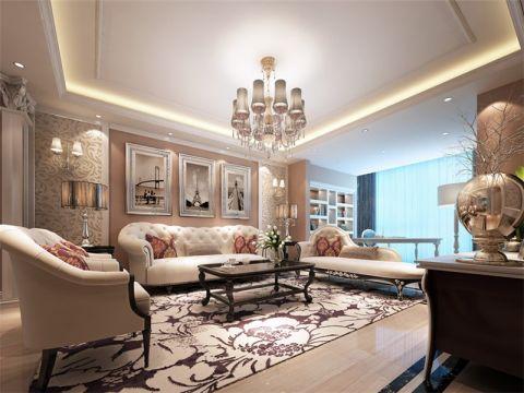 100平欧式风格三居室装修效果图
