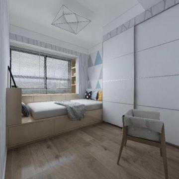 现代简约卧室榻榻米装修案例效果图