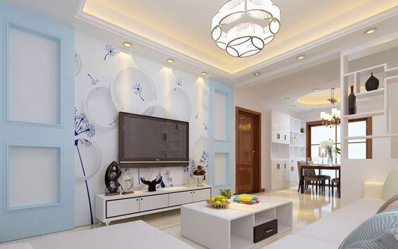 75平现代简约风格两居室装修效果图