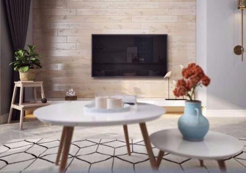 客厅白色茶几简约风格装饰图片