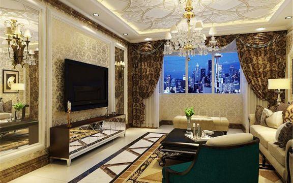 89平新古典风格两居室装修效果图