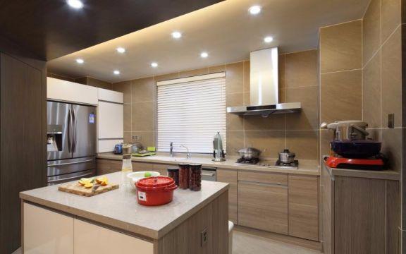 厨房米色橱柜中式风格装饰设计图片