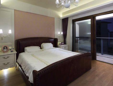 卧室咖啡色床中式风格效果图