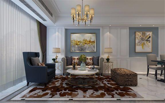 115平简欧风格三居室装修效果图