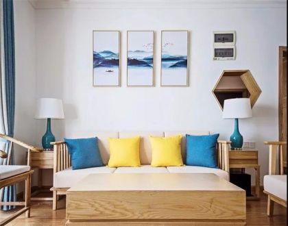 110平中式风格三居室装修效果图