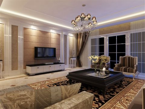 114平米现代简约风格三居室装修效果图