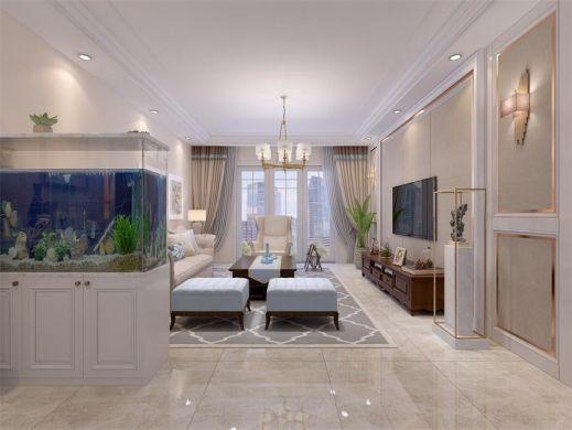 140平美式风格四居室装修效果图