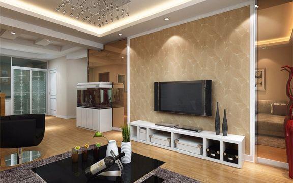 65平米现代简约风格两居室装修效果图