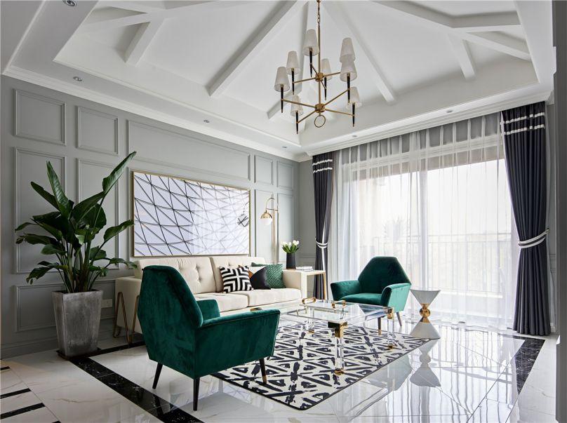 100平米欧式风格三居室装修效果图