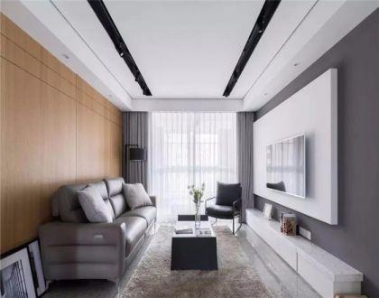 118平米现代简约风格三居室装修效果图
