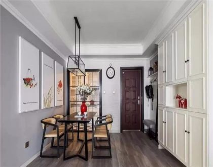 105平米美式风格三居室装修效果图