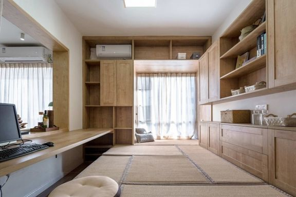 书房榻榻米日式装饰实景图