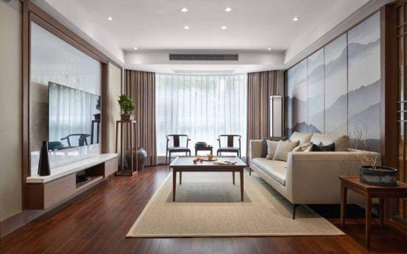 110平新中式风格套房装修效果图