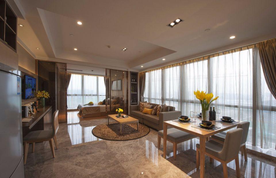 设计精巧客厅落地窗装潢实景图片