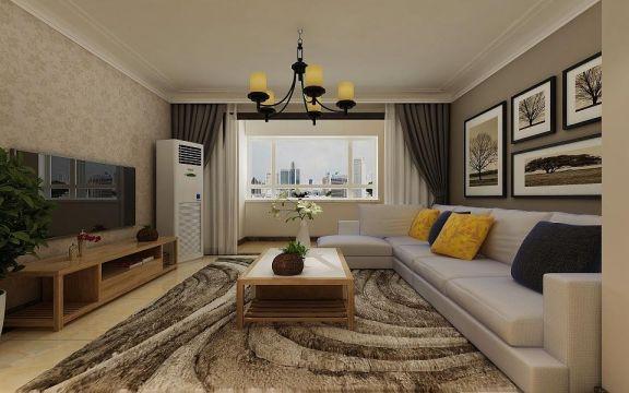 125平简约风格三居室装修效果图