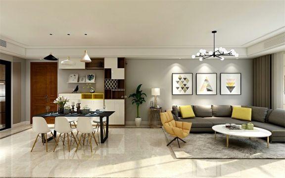 客厅地砖简单风格装修效果图