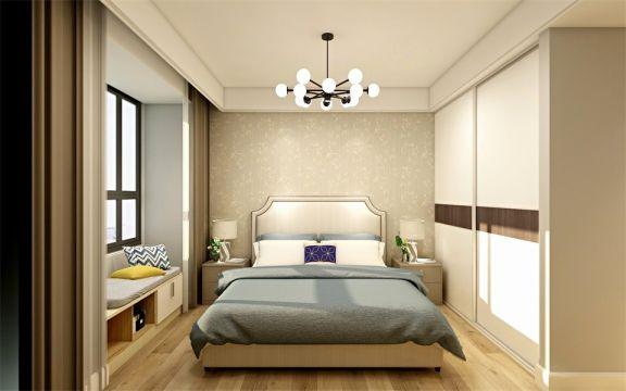 卧室床简单风格装修图片