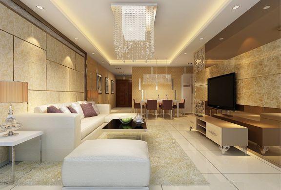 59平现代简约风格一居室装修效果图