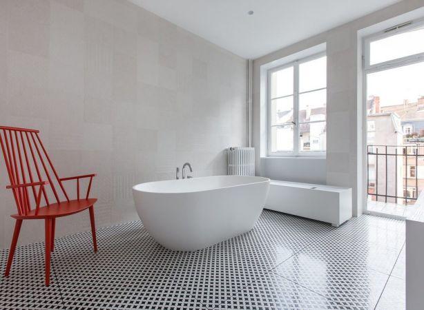 浴室浴缸北欧风格装饰效果图