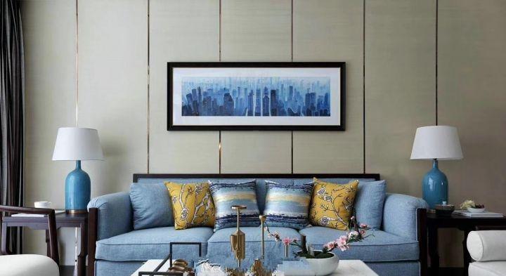 客厅背景墙新古典风格装修设计图片